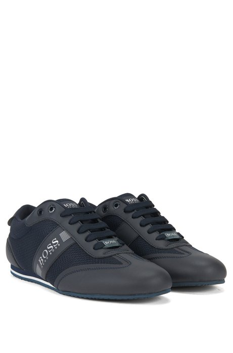 Lace-up trainers with mesh detail BOSS R02DK