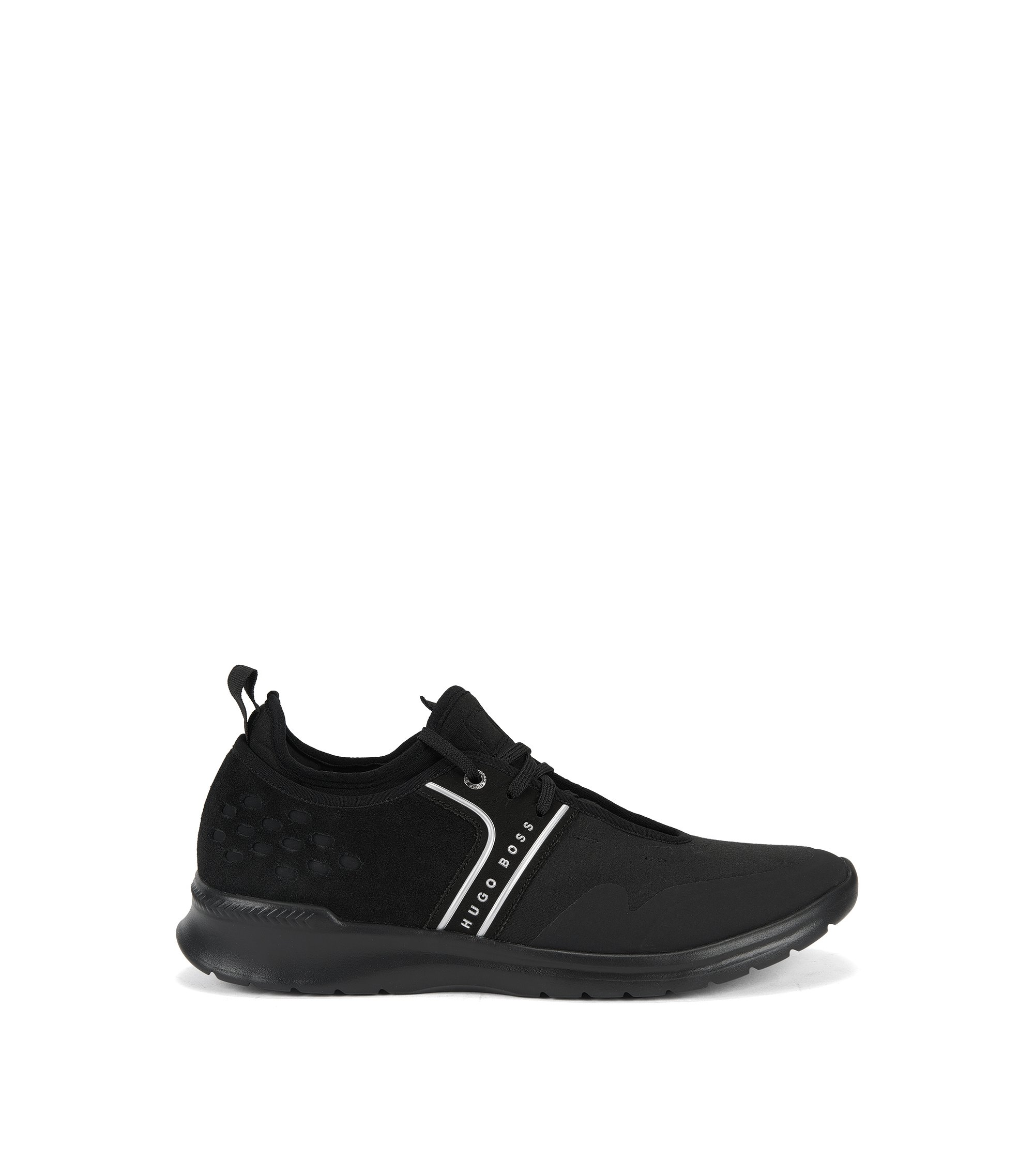 Lightweight trainers with gradient uppers, Black
