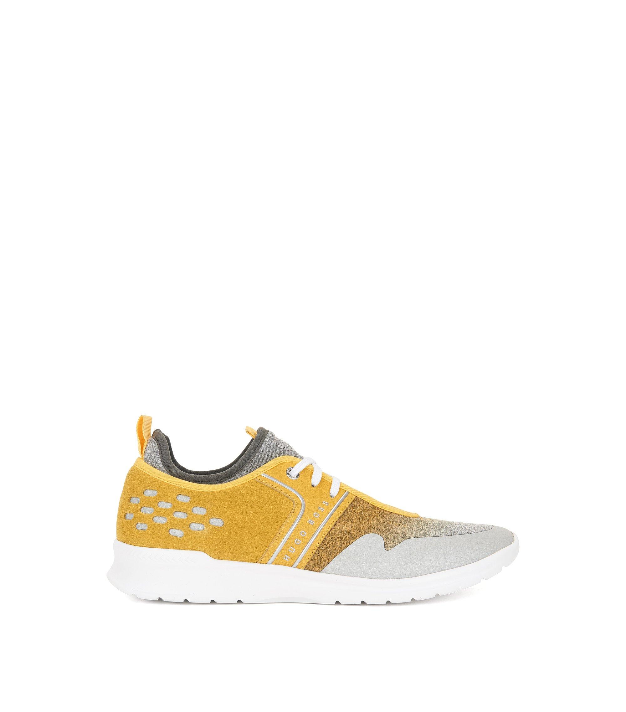 Lichte sneakers met bovenzijde met kleurverloop, Geel
