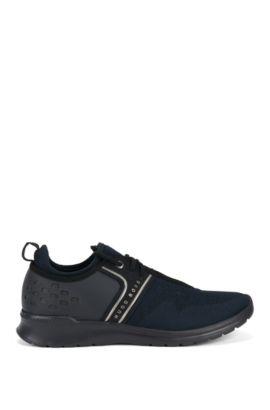 Sneakers aus Material-Mix, Dunkelblau