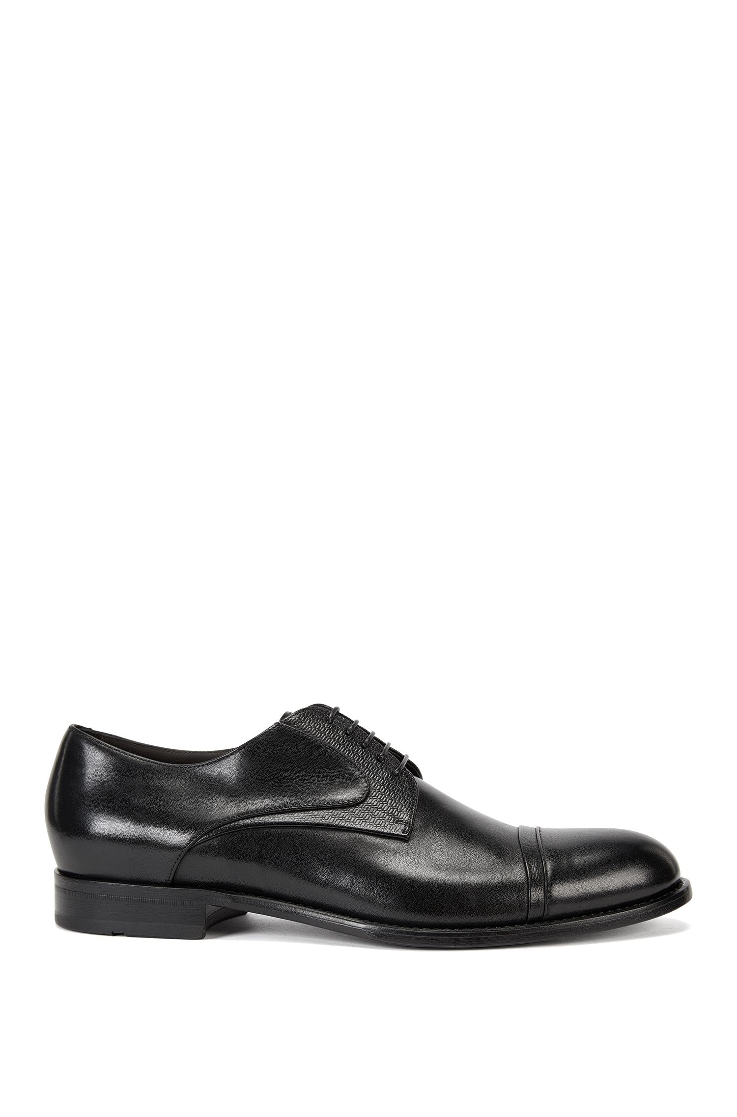Leather Derby shoes with embossed leather