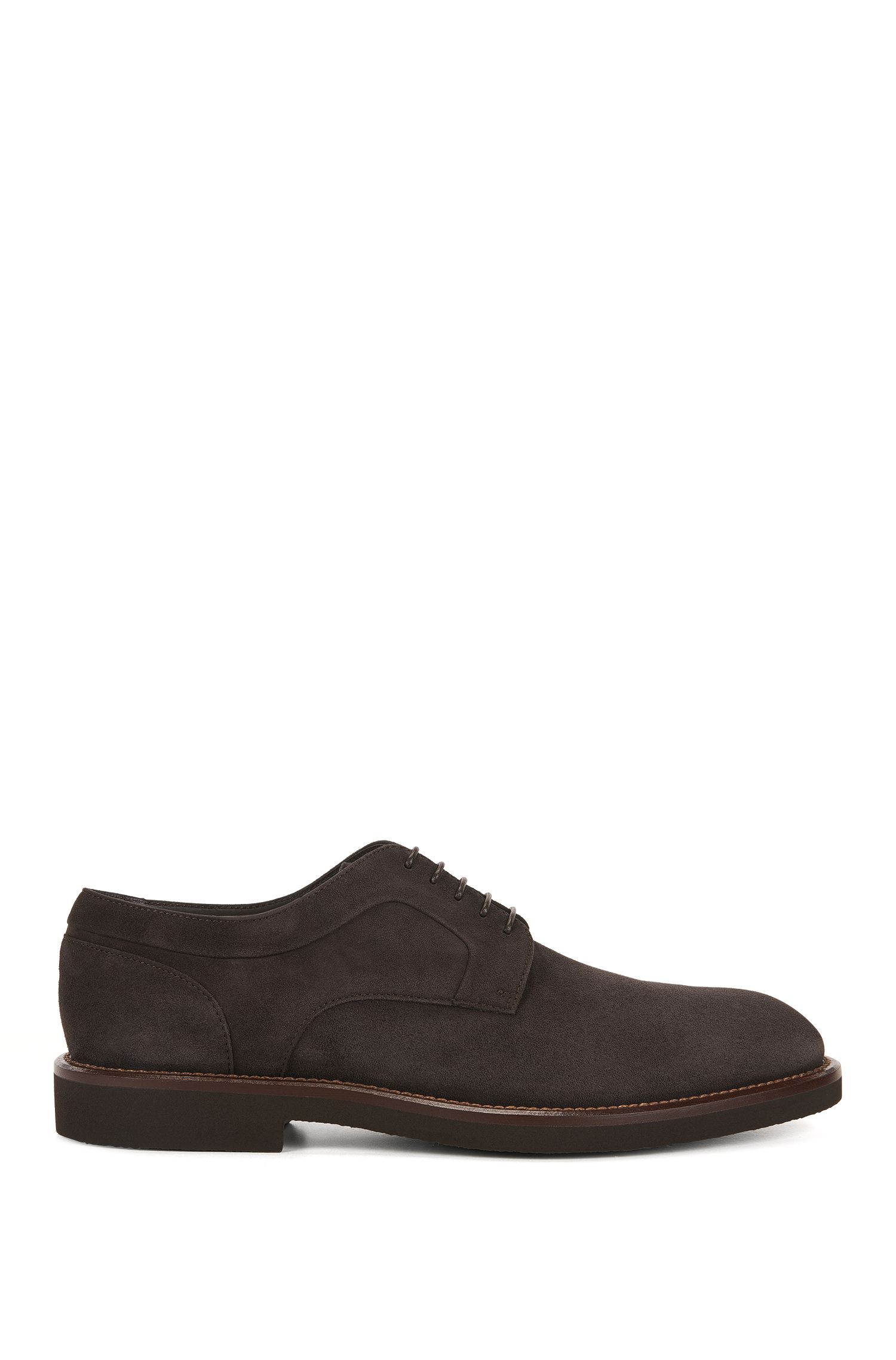 Lace-up Derby shoes in suede
