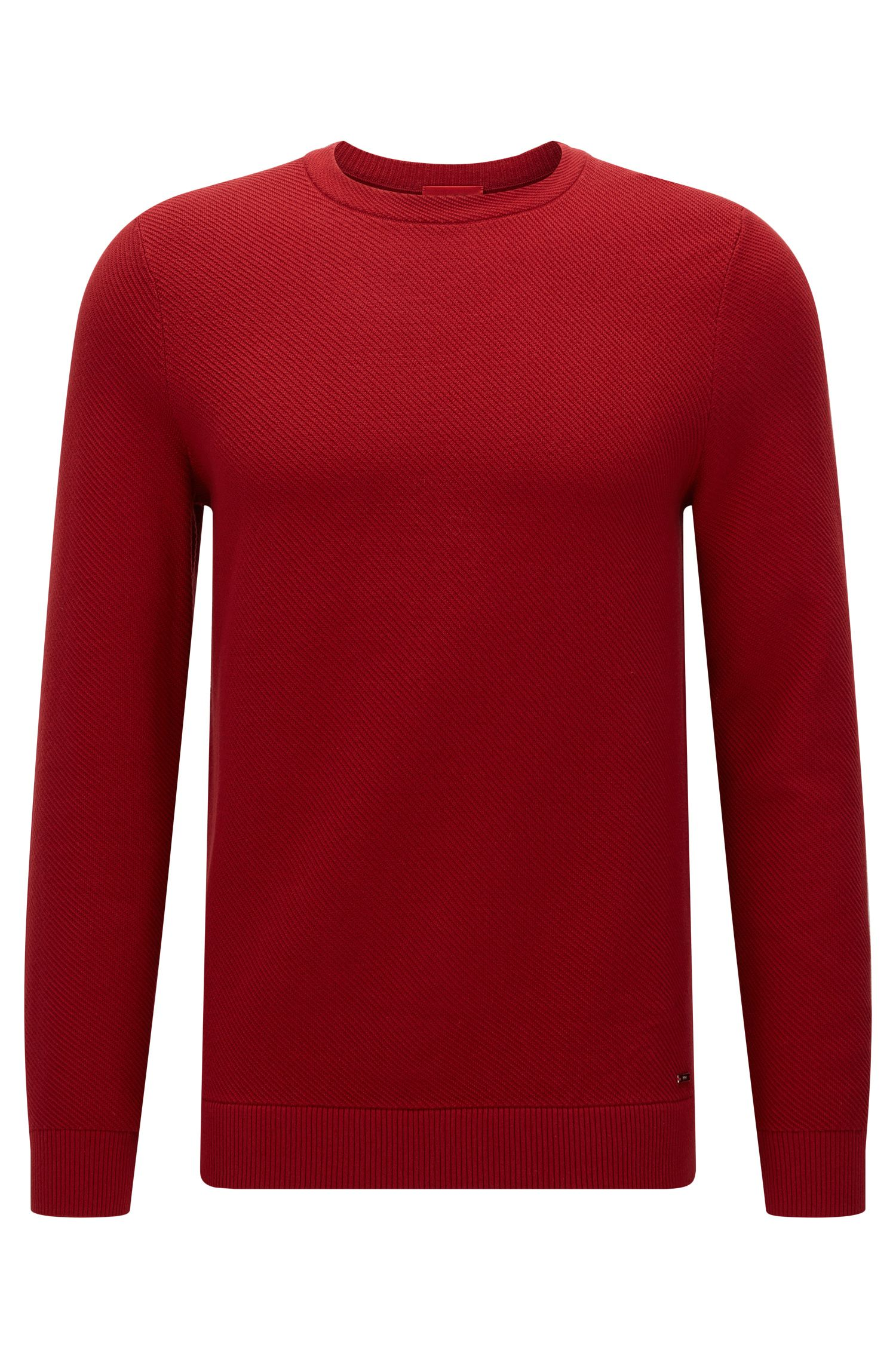 Relaxed-fit sweater with diagonal rib texture