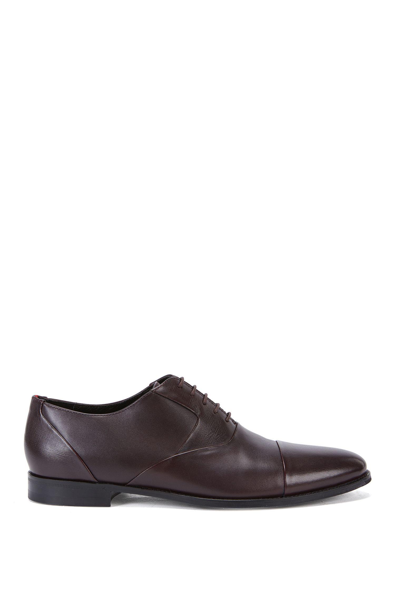 Chaussures Oxford en cuir à détail Saffiano
