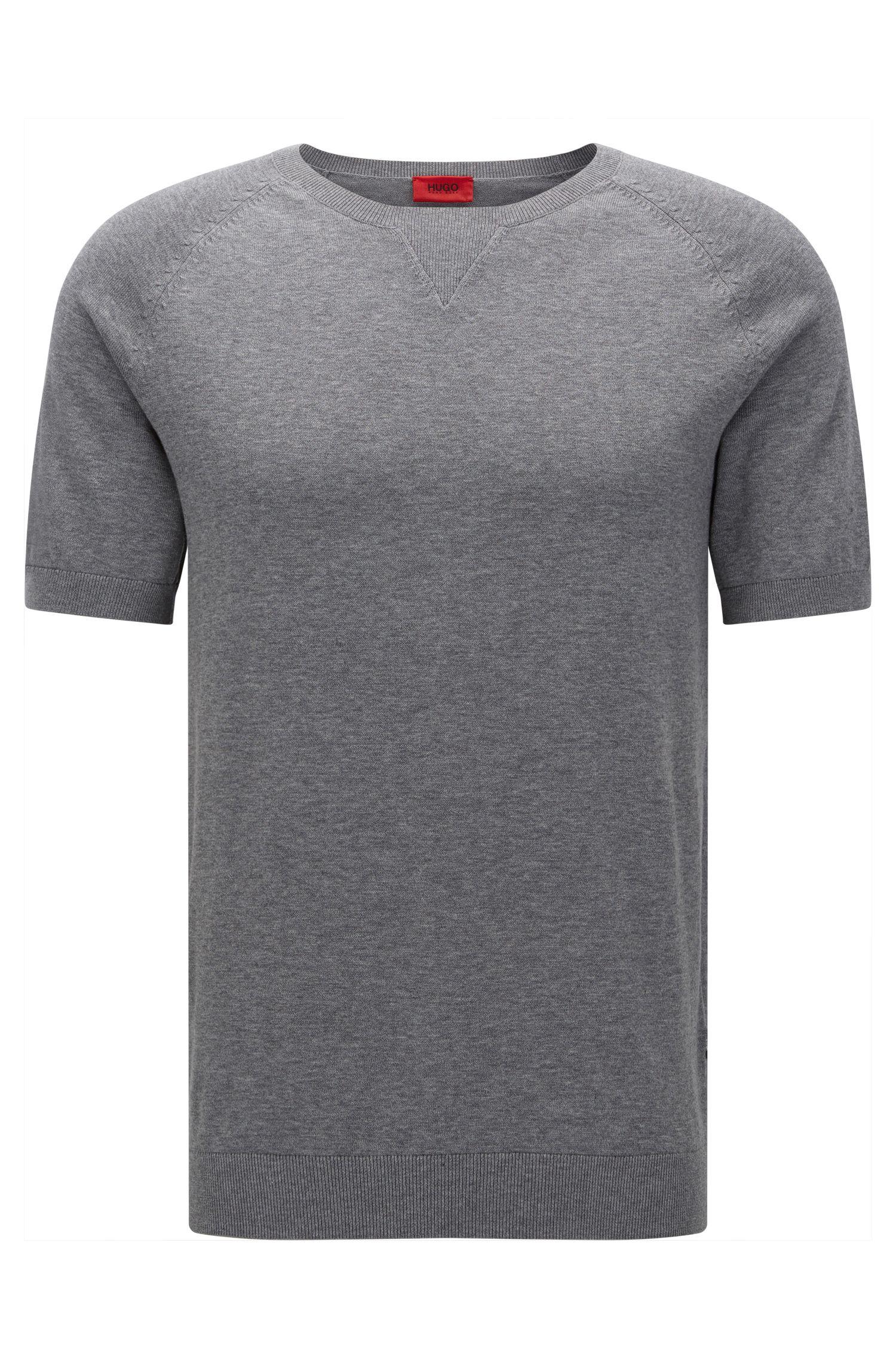 T-shirt oversize in cotone con inserto sulla scollatura
