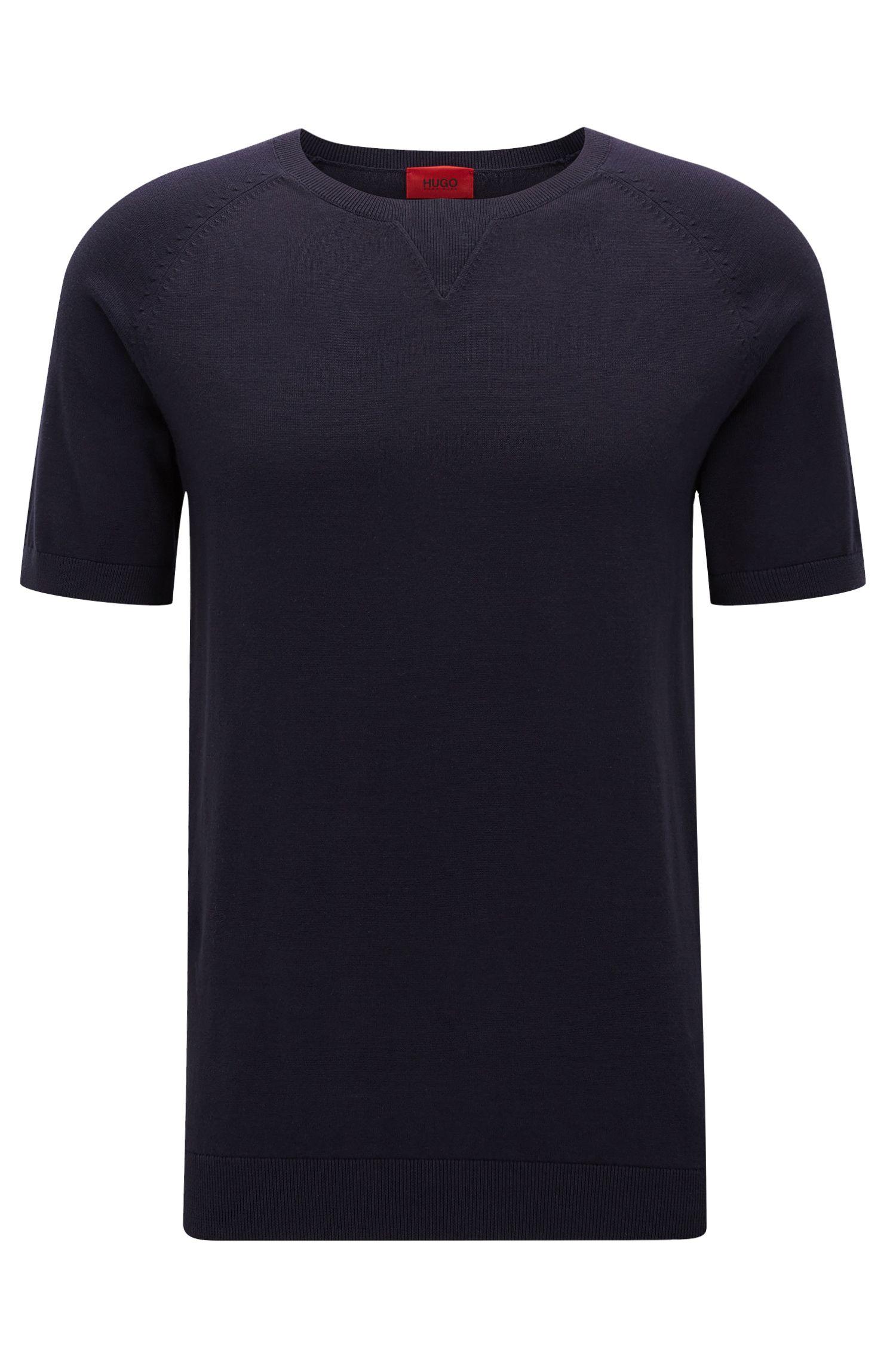 Oversized T-shirt van katoen met halsdetail