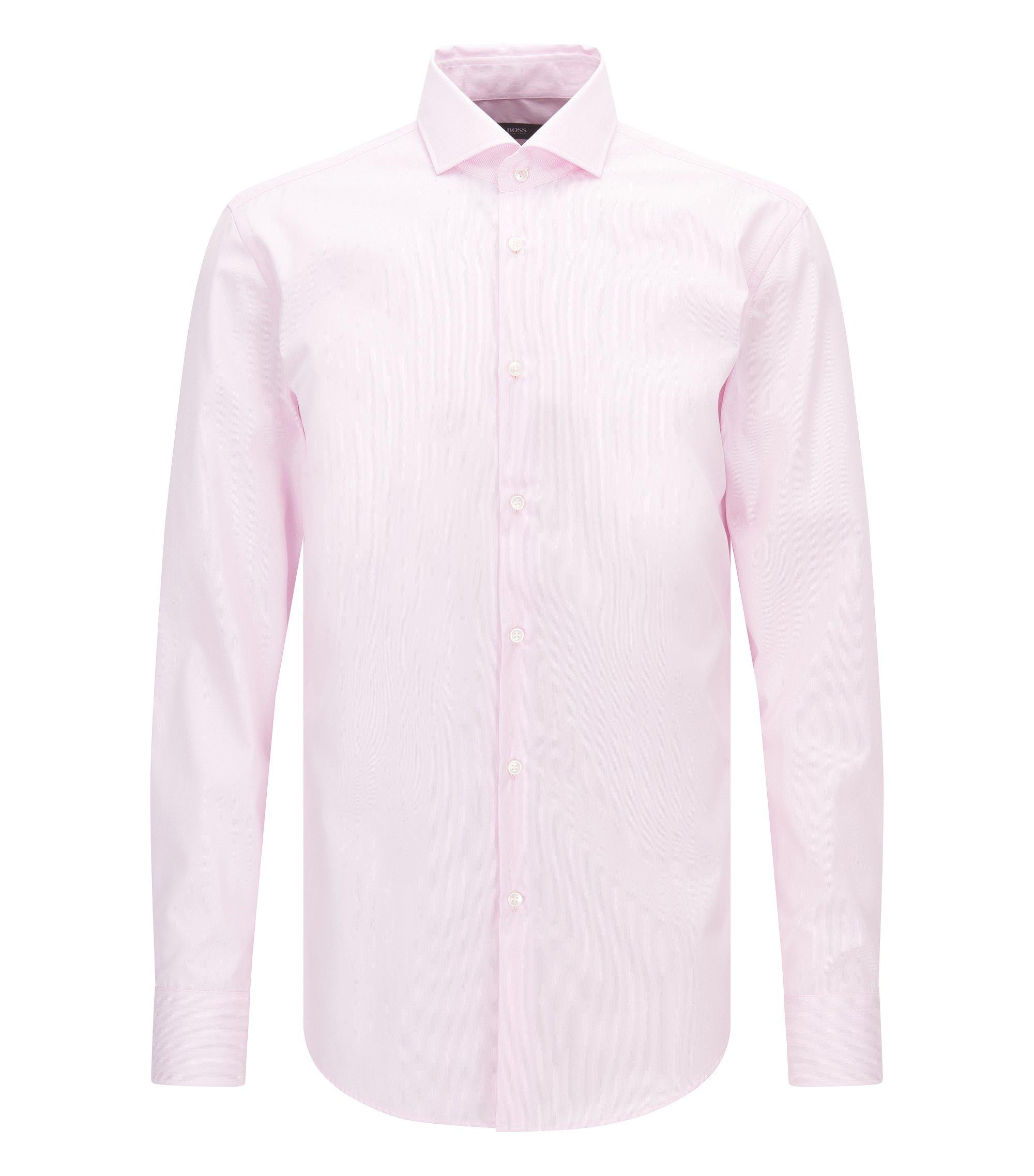 Chemise Slim Fit à rayures en coton facile à repasser, Rose clair