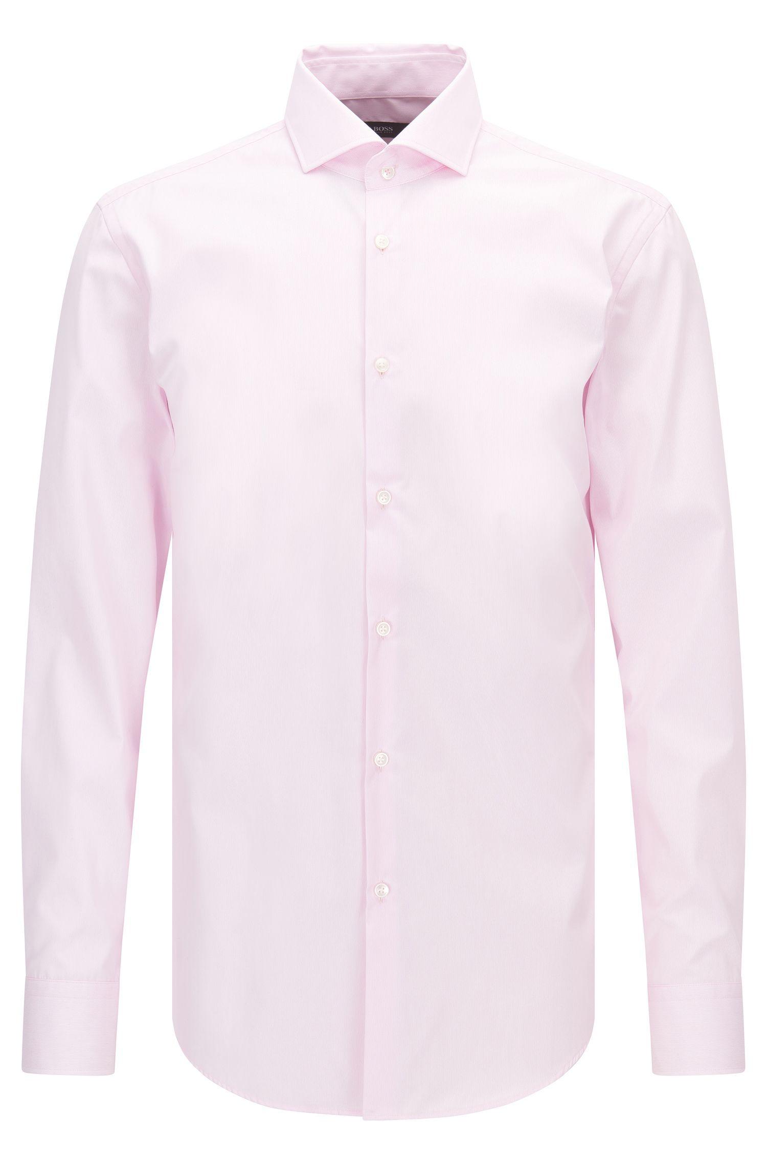 Gestreiftes Slim-Fit Hemd aus bügelleichter Baumwolle