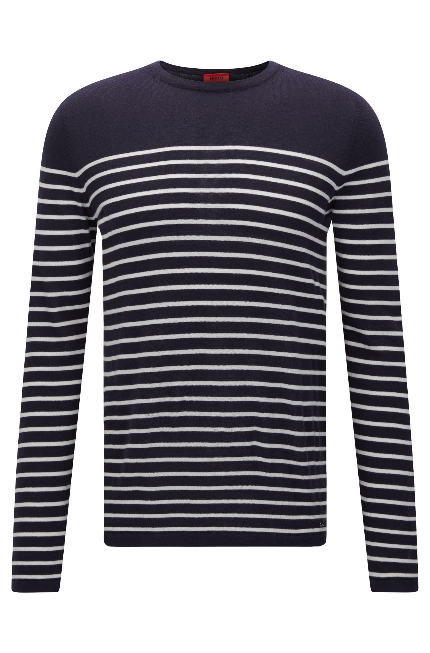 Slim-fit sweater with nautical stripe