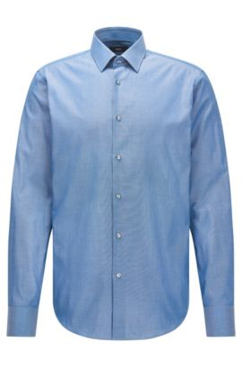Camisa regular fit en algodón Royal Oxford, Turquesa