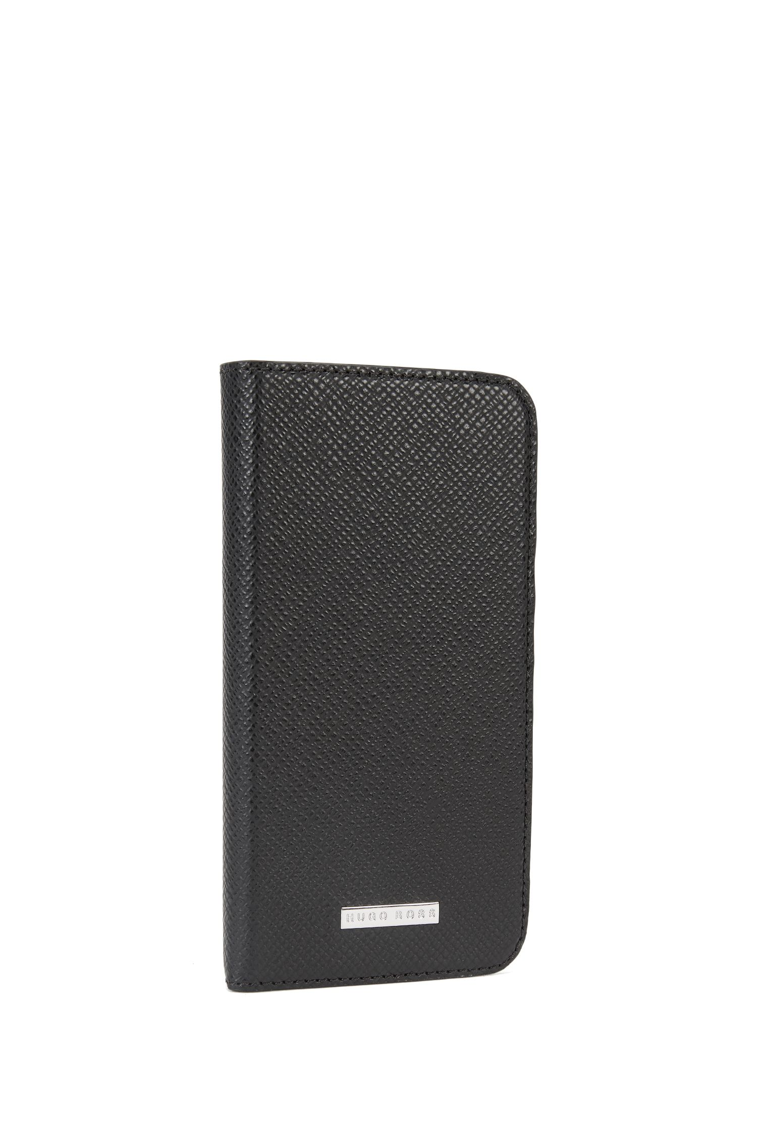 Signature Collection smartphone cover with flap in palmellato leather