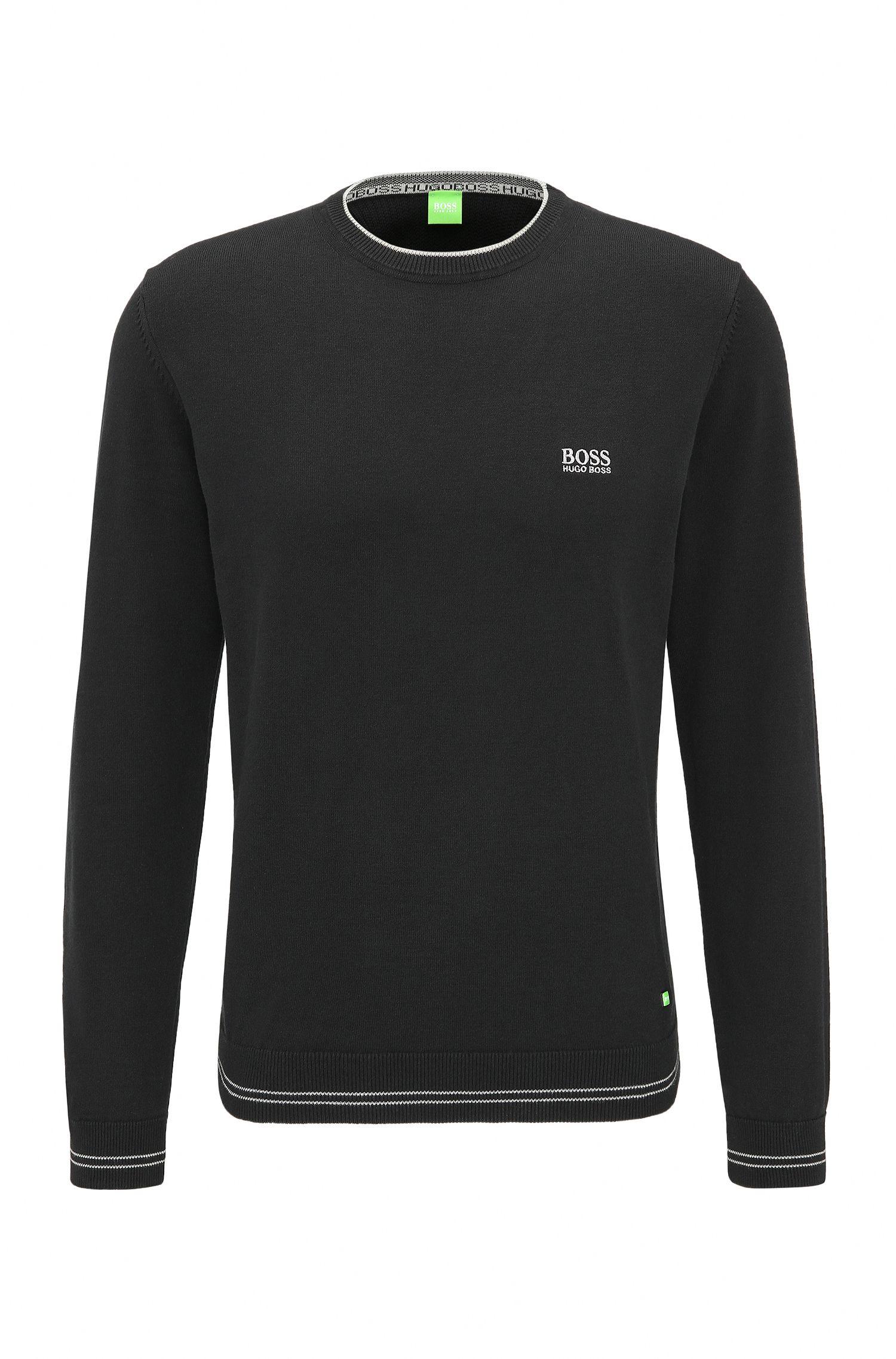 Regular-Fit Pullover aus Baumwoll-Mix