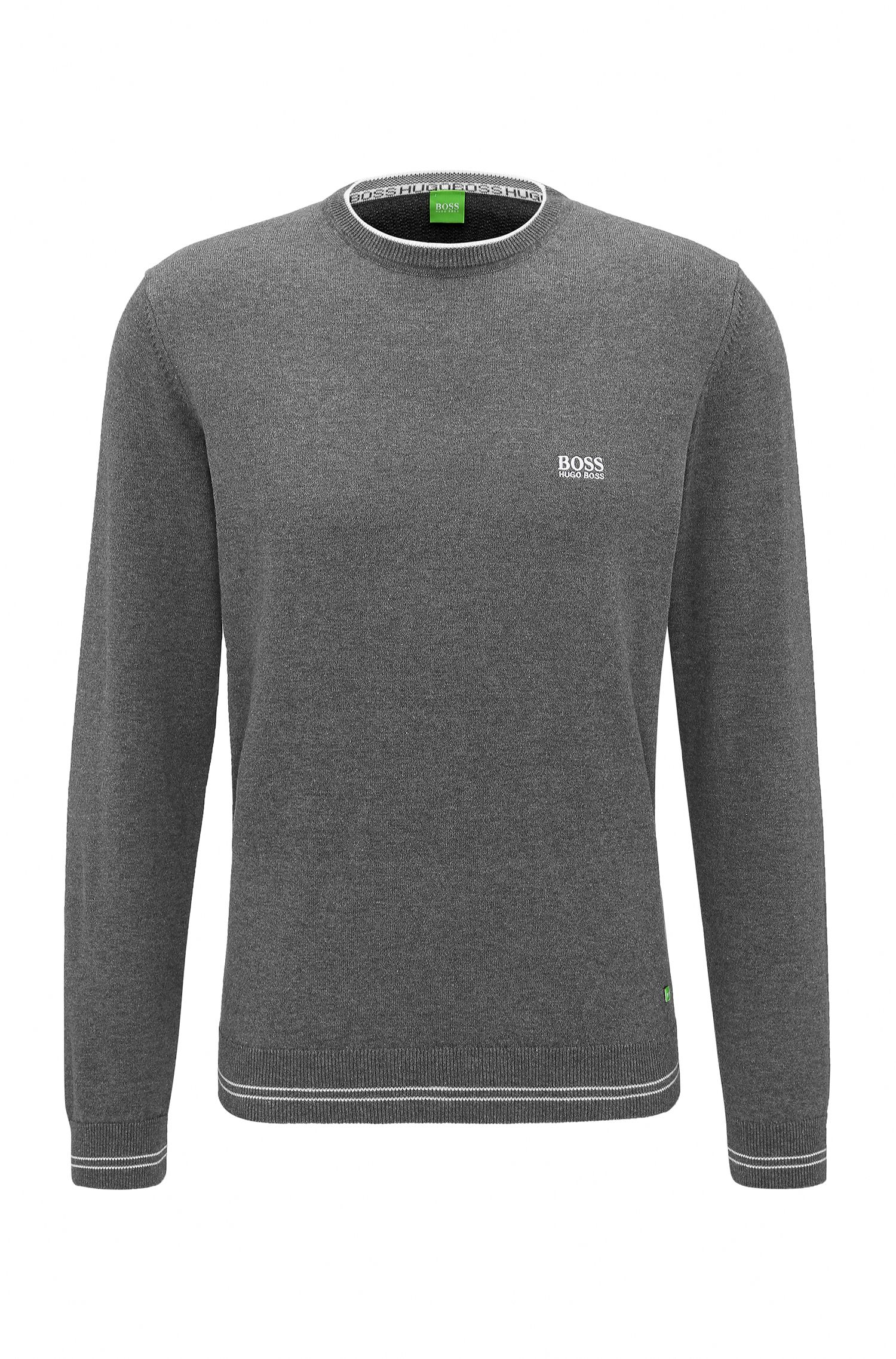Regular-Fit Pullover aus Baumwoll-Mix