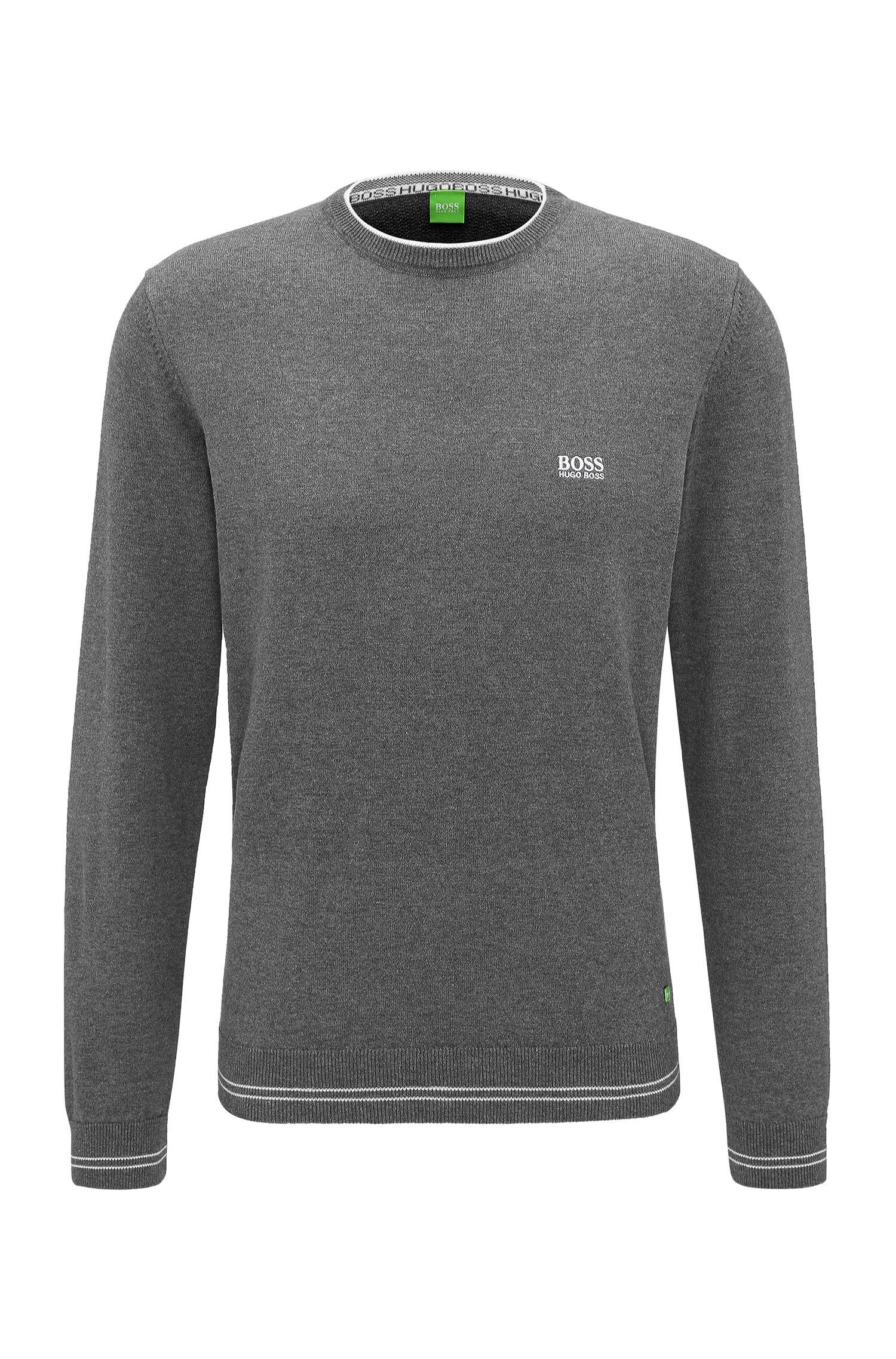 Regular-Fit Pullover aus Material-Mix