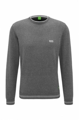 Regular-fit sweater in technical fabric, Grey