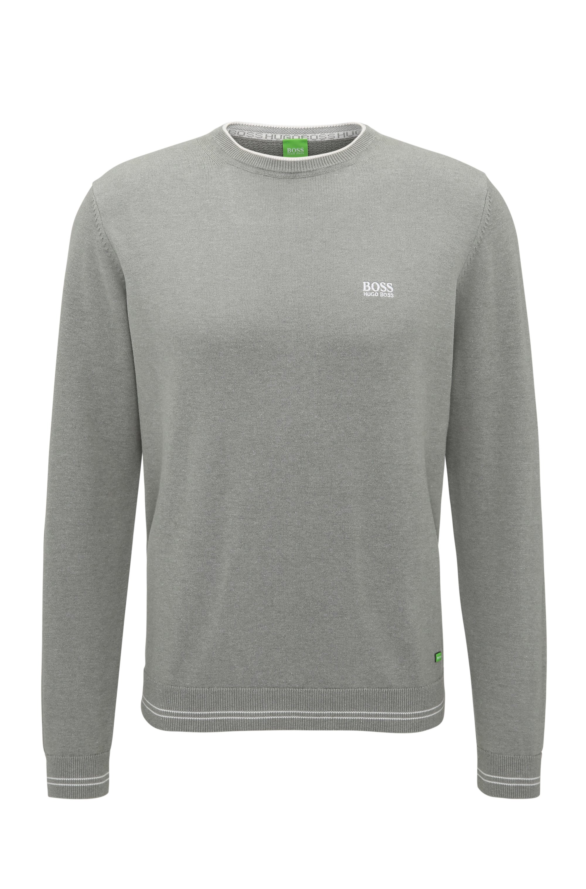 Regular-fit sweater in technical fabric, Light Grey