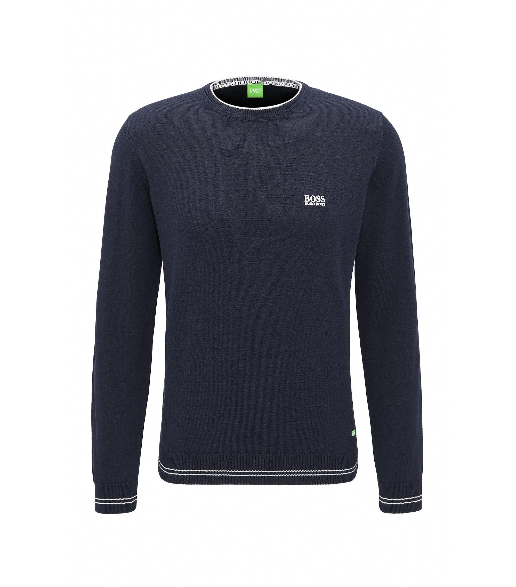 Regular-fit sweater van technisch materiaal, Donkerblauw