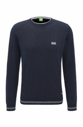 Maglione regular fit in tessuto tecnico, Blu scuro