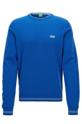 Regular-Fit Pullover aus Baumwoll-Mix, Blau