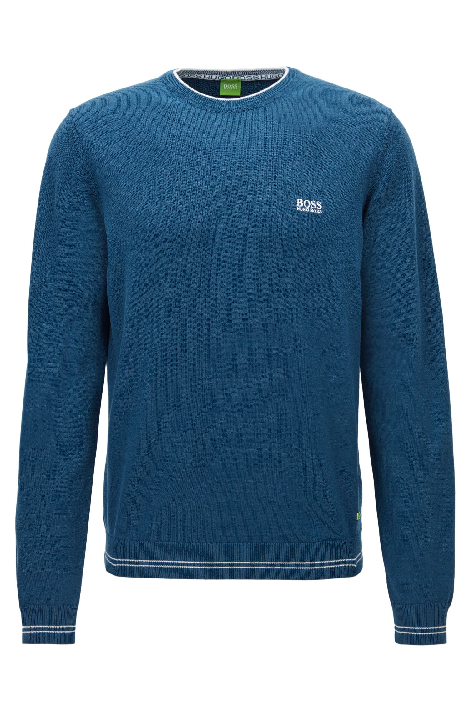 Regular-fit sweater in technical fabric