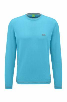 Regular-fit sweater van technisch materiaal, Lichtblauw