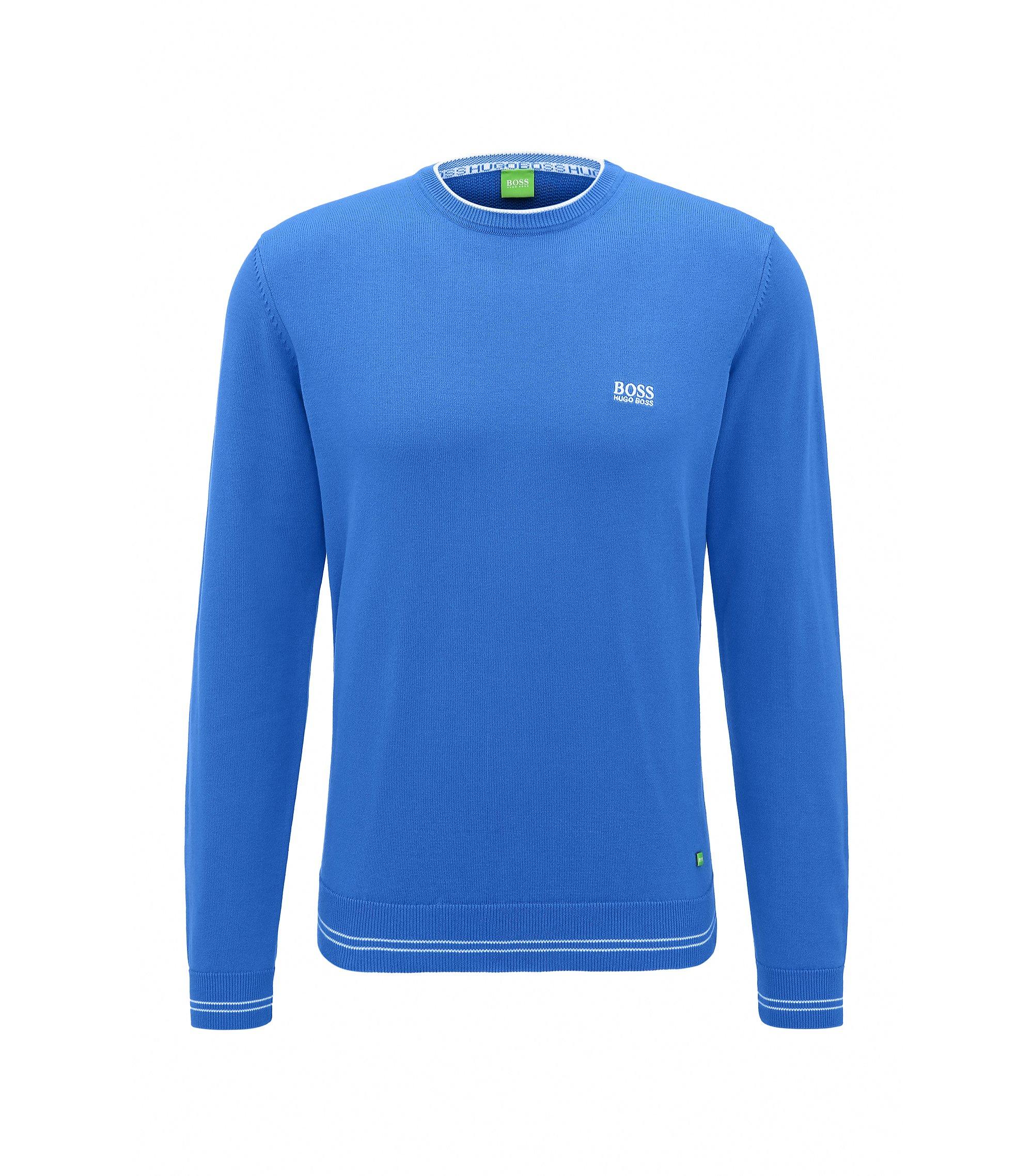 Regular-Fit Pullover aus Baumwoll-Mix, Blau