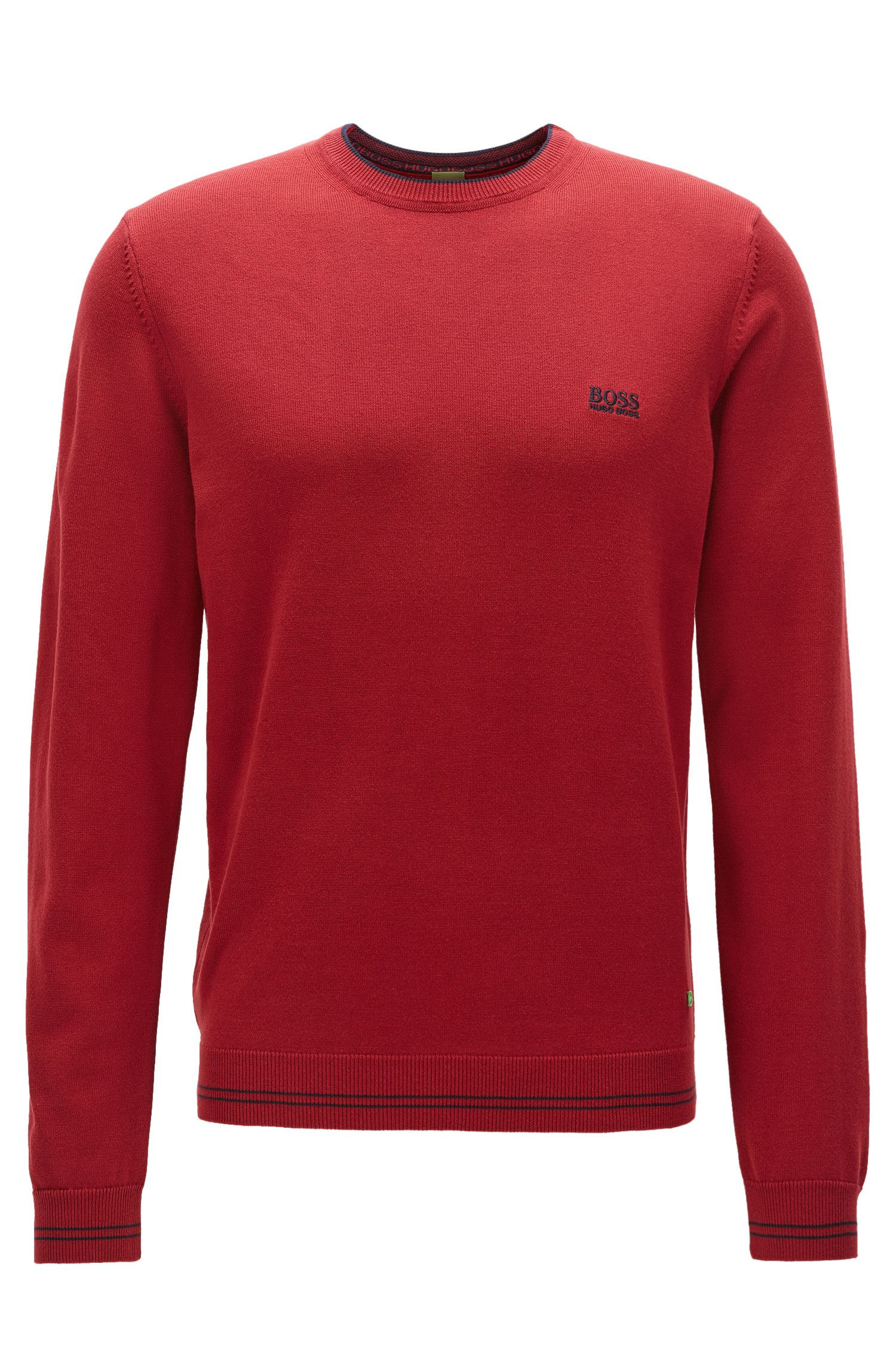 Regular-fit sweater van technisch materiaal
