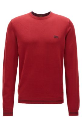 Regular-fit sweater van technisch materiaal, Donkerrood