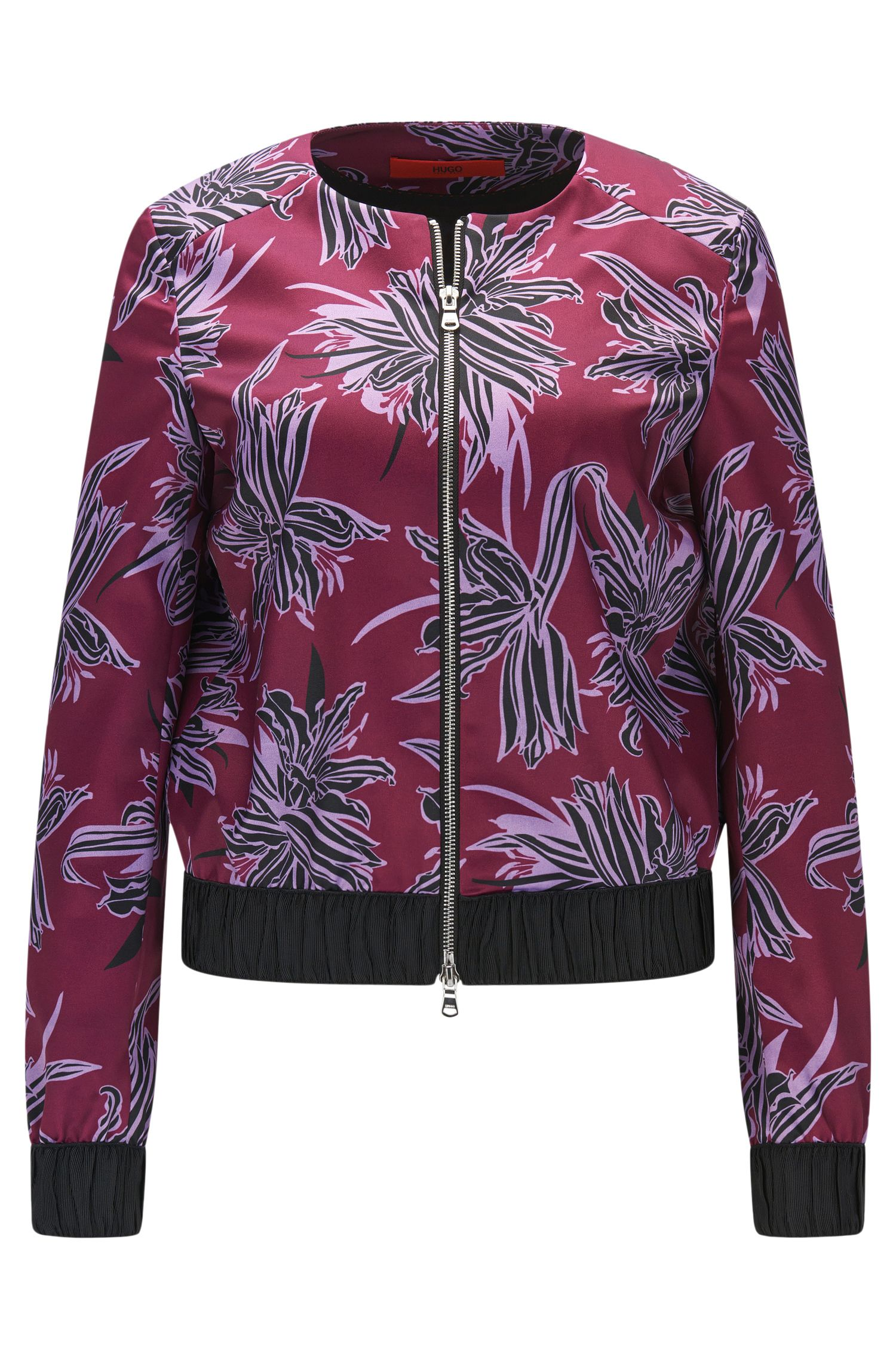 Patterned blazer made from a stretchy material blend in bomber jacket style: 'Altana'