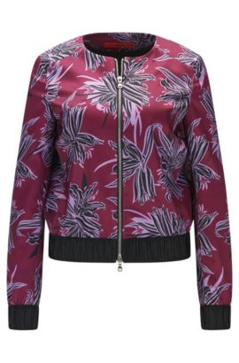 Patterned blazer made from a stretchy material blend in bomber jacket style: 'Altana', Patterned