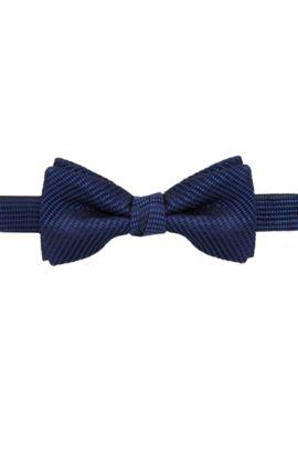 Vlinderdasje van zijde met dessin, Donkerblauw