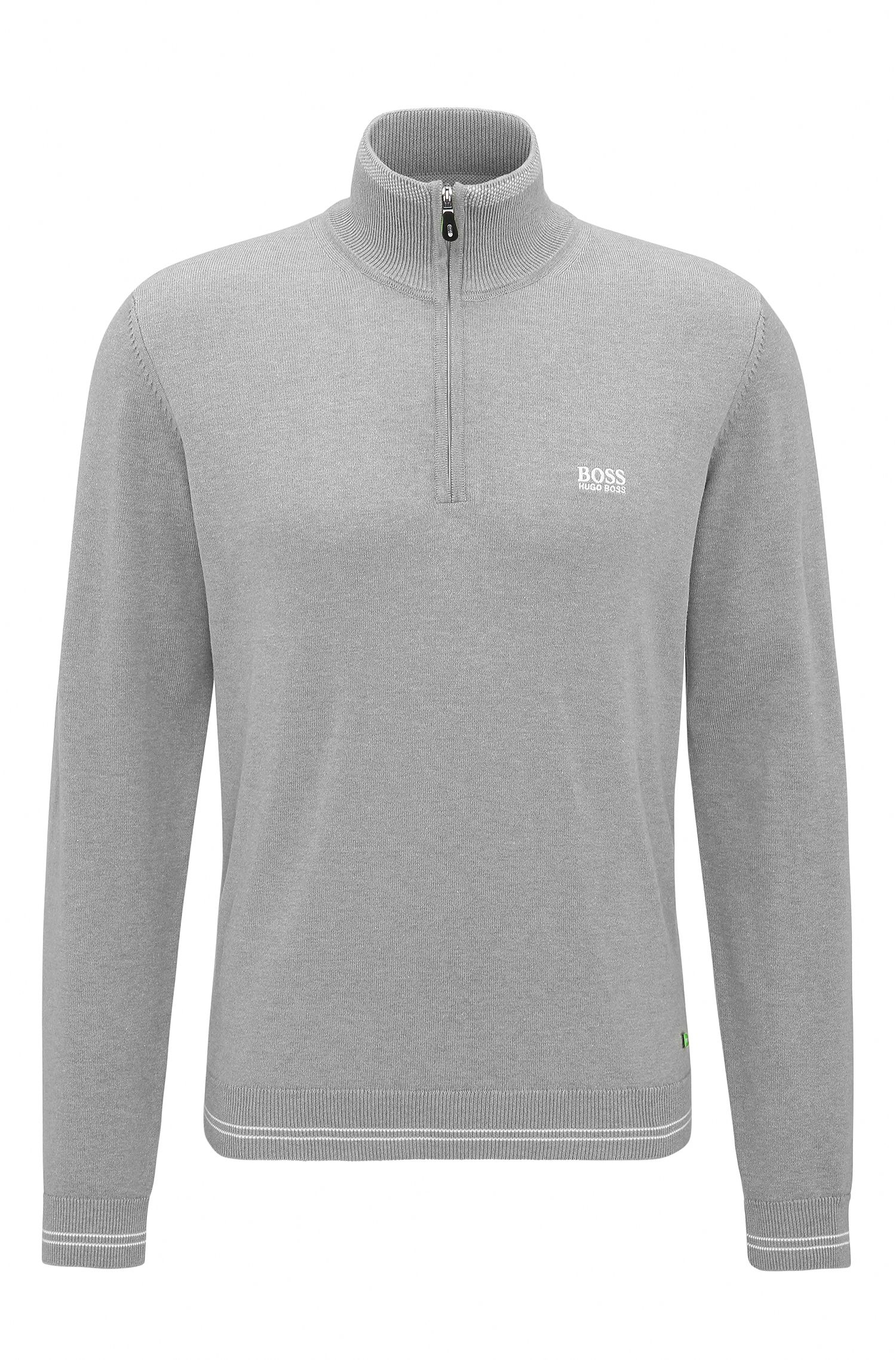 Regular-Fit Pullover aus Material-Mix