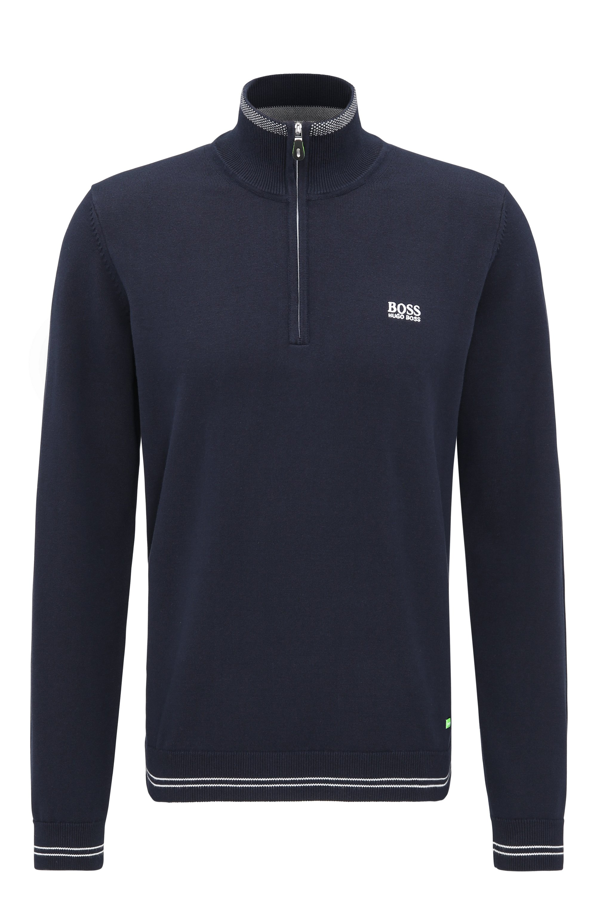Regular-Fit Pullover aus Baumwoll-Mix, Dunkelblau