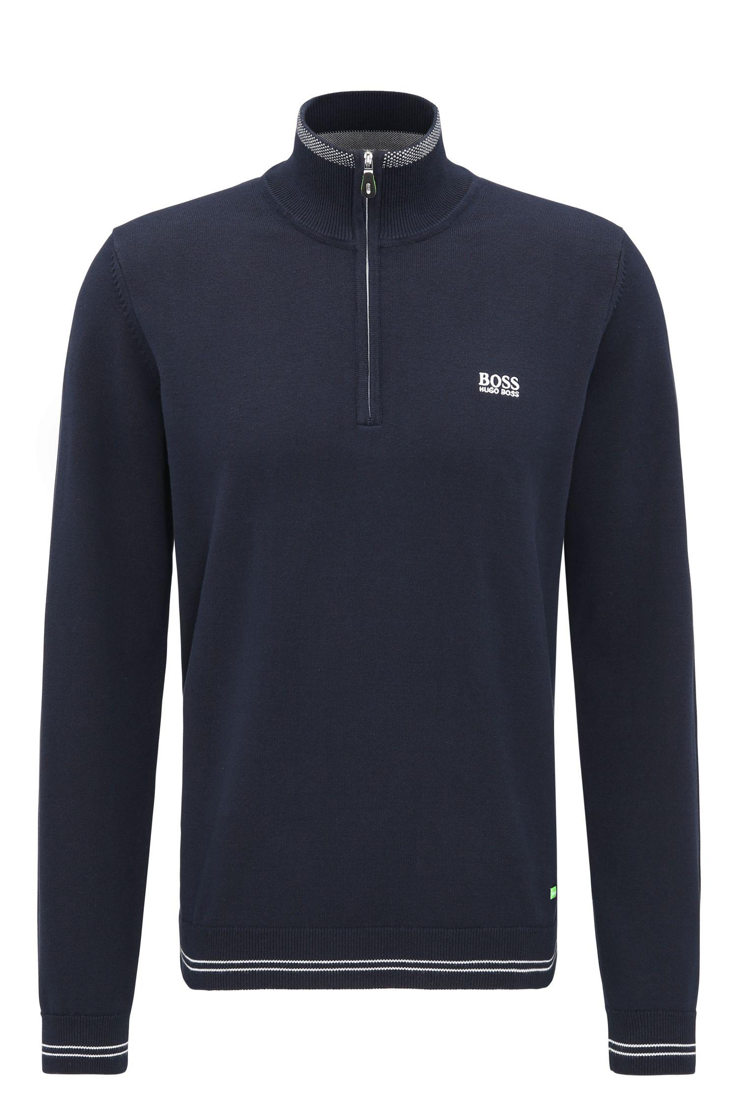 Regular-fit sweater van technisch materiaal