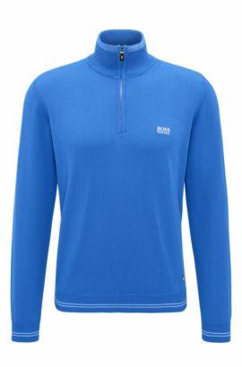 Regular-Fit Pullover aus Baumwoll-Mix, Hellblau