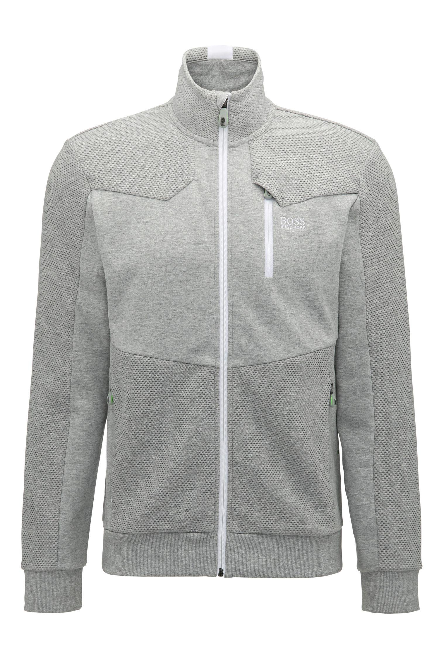 Regular-fit sweatshirt van hybridestoffen