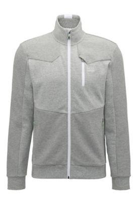 Regular-fit sweatshirt van hybridestoffen, Lichtgrijs