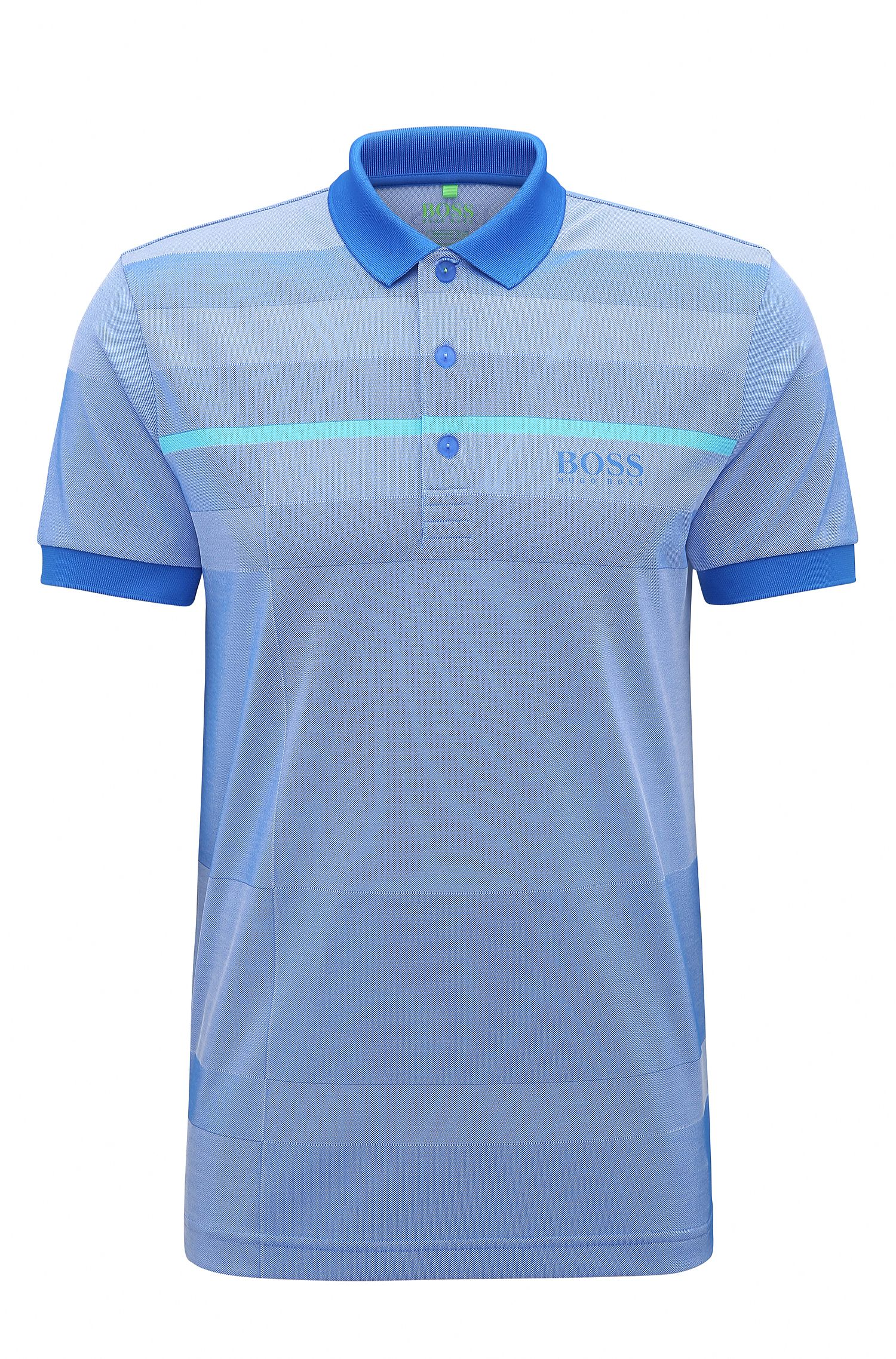 Regular-fit polo shirt in technical fabric