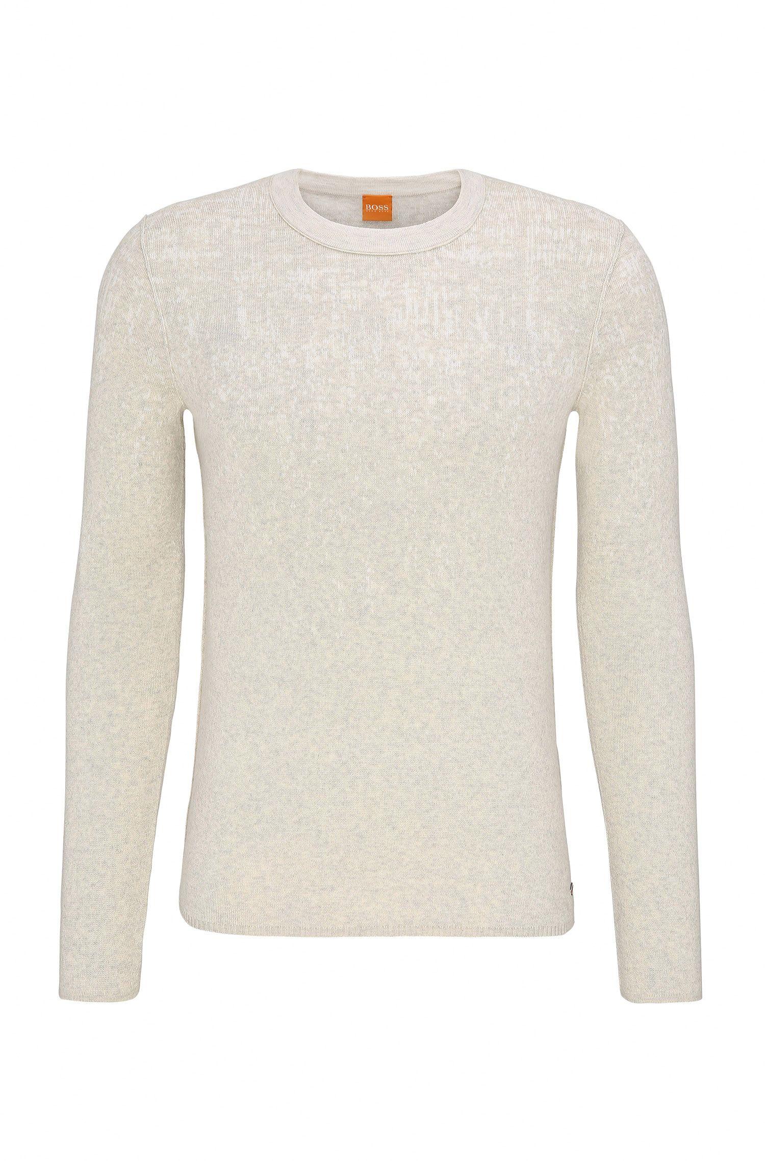 Slim-Fit Pullover aus Baumwoll-Mix mit Seiden-Anteil
