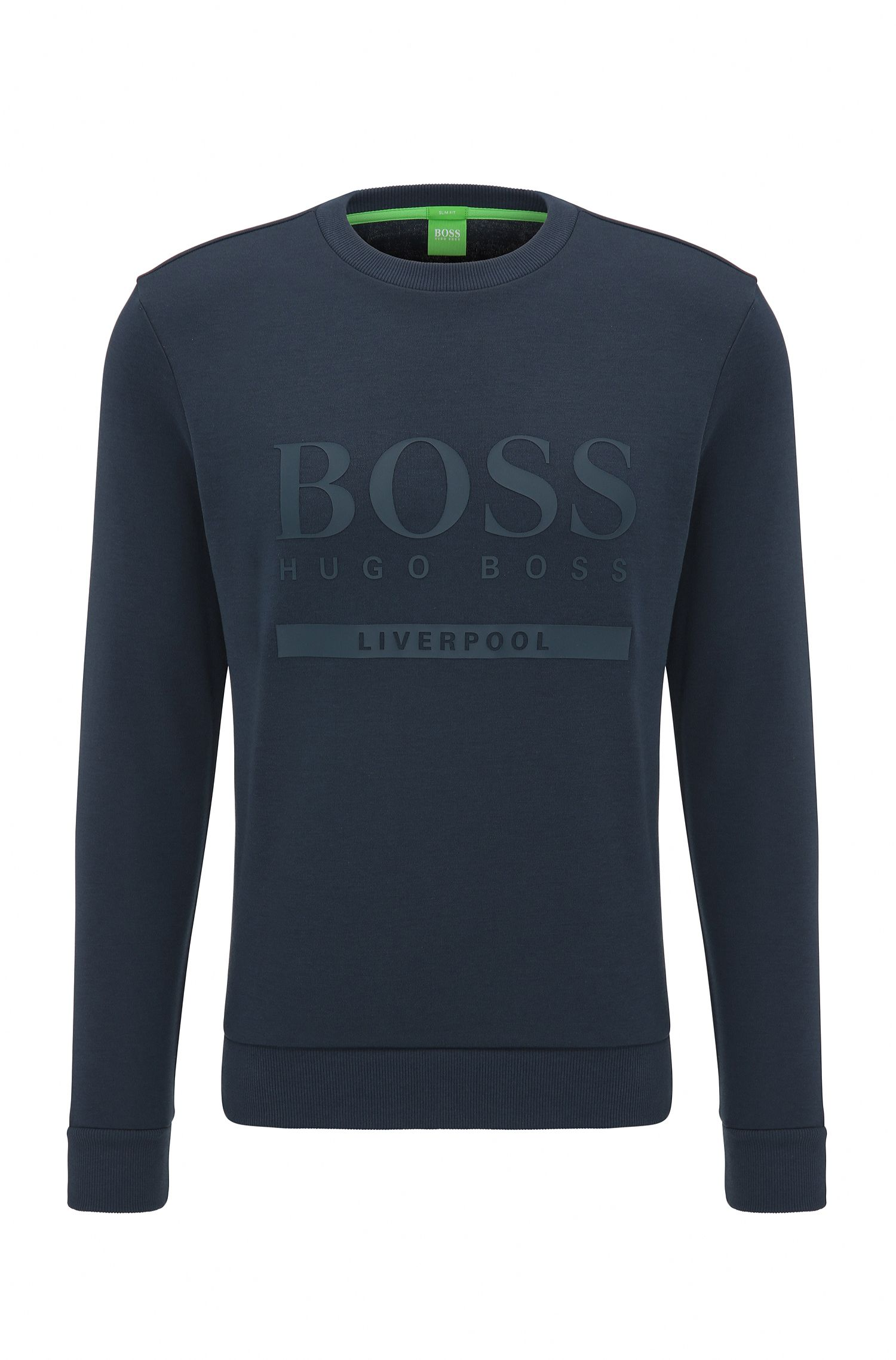 Slim-fit logo sweater in cotton blend