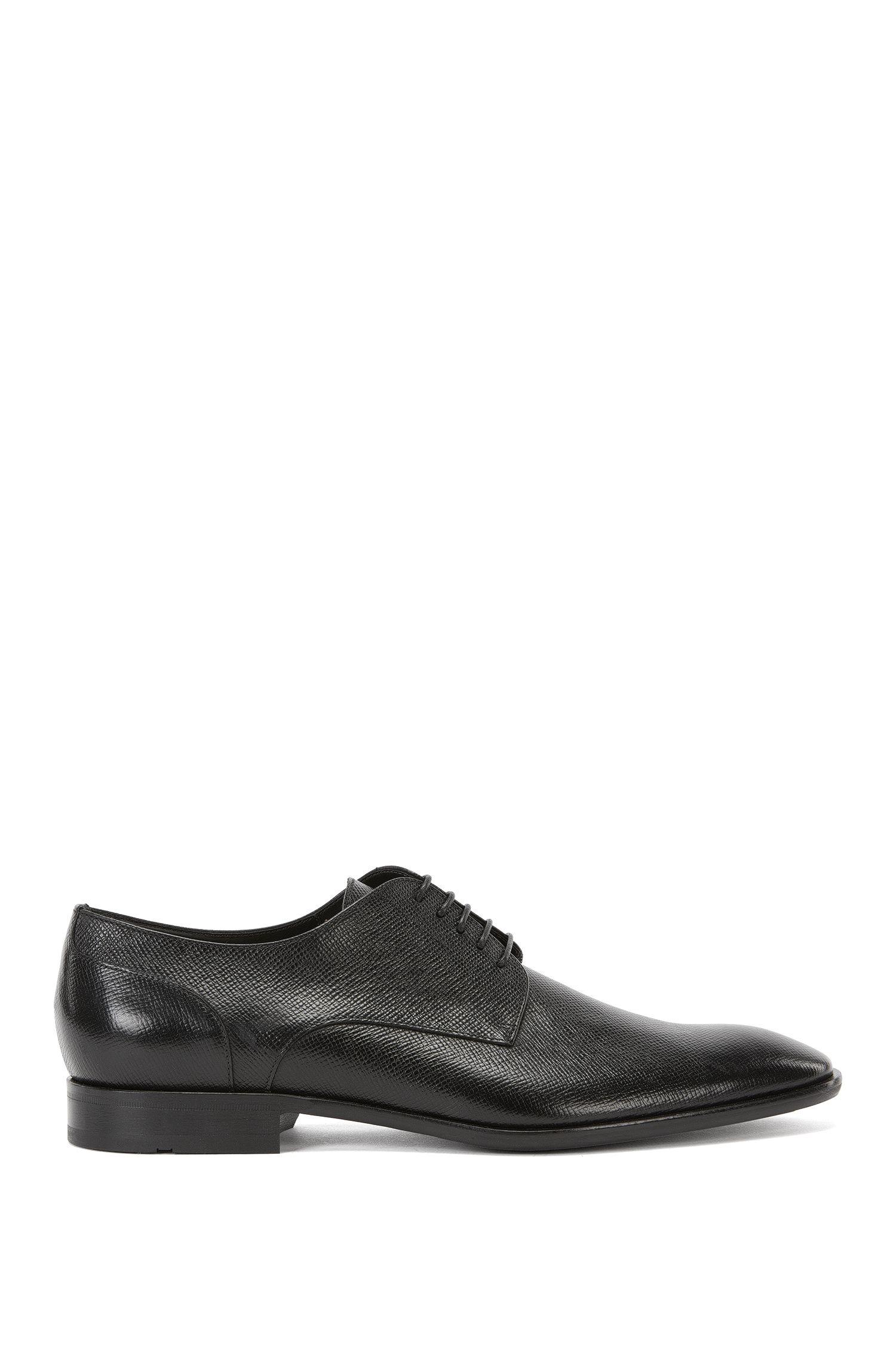 Chaussures derby avec tiges imprimées en cuir