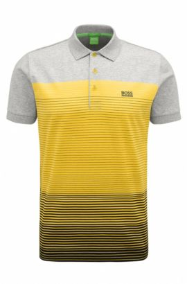 Regular-fit polo shirt in mercerised cotton, Yellow