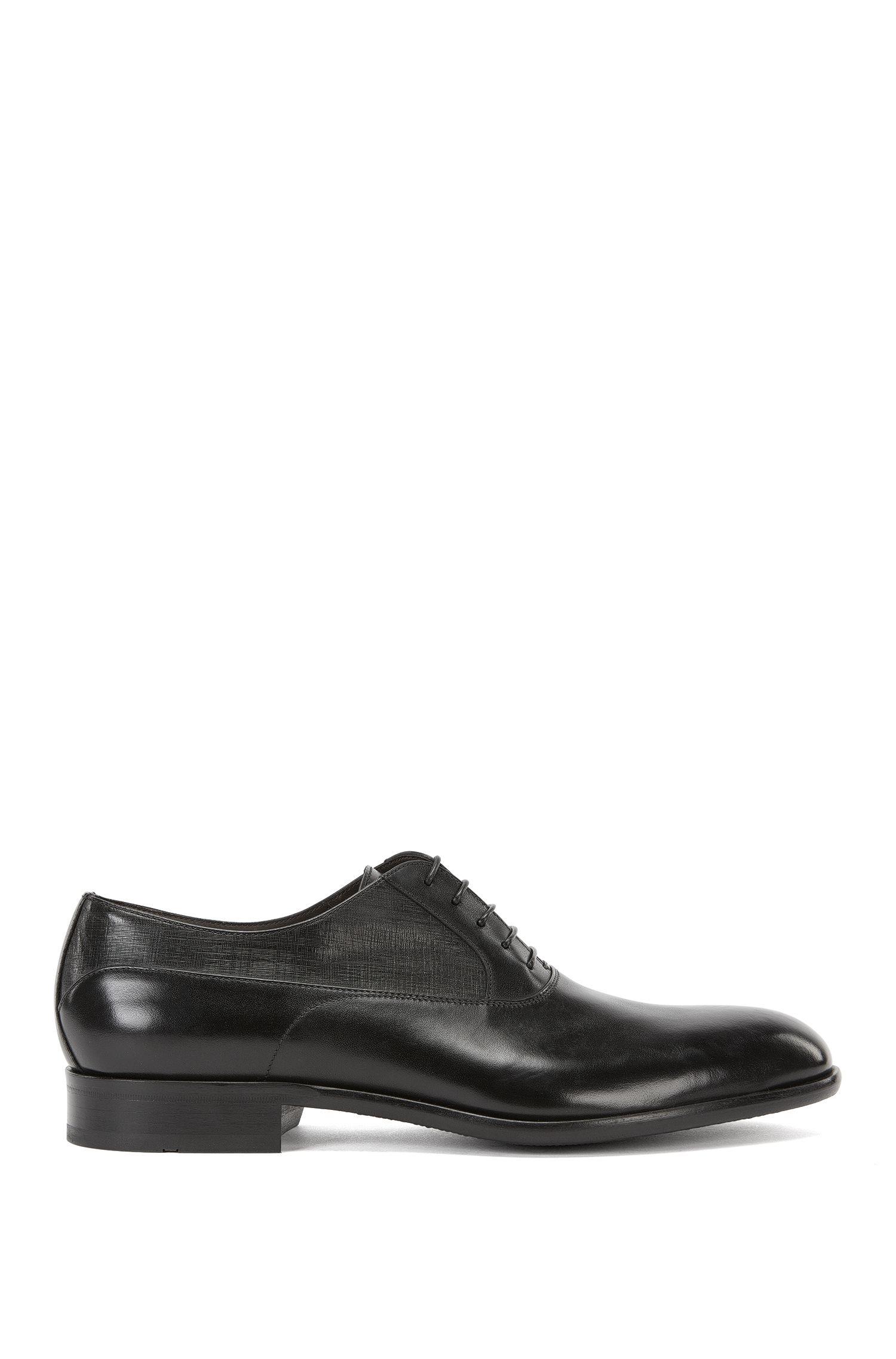 Chaussures Oxford à quartiers en cuir imprimé