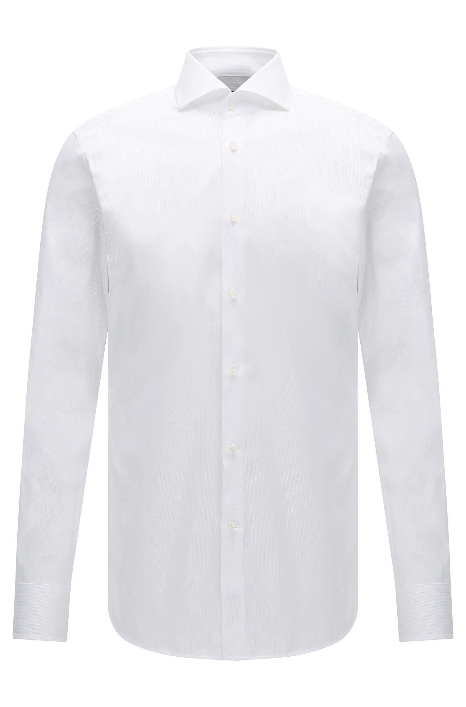 Slim-Fit Hemd aus Baumwolle mit feiner Streifenstruktur