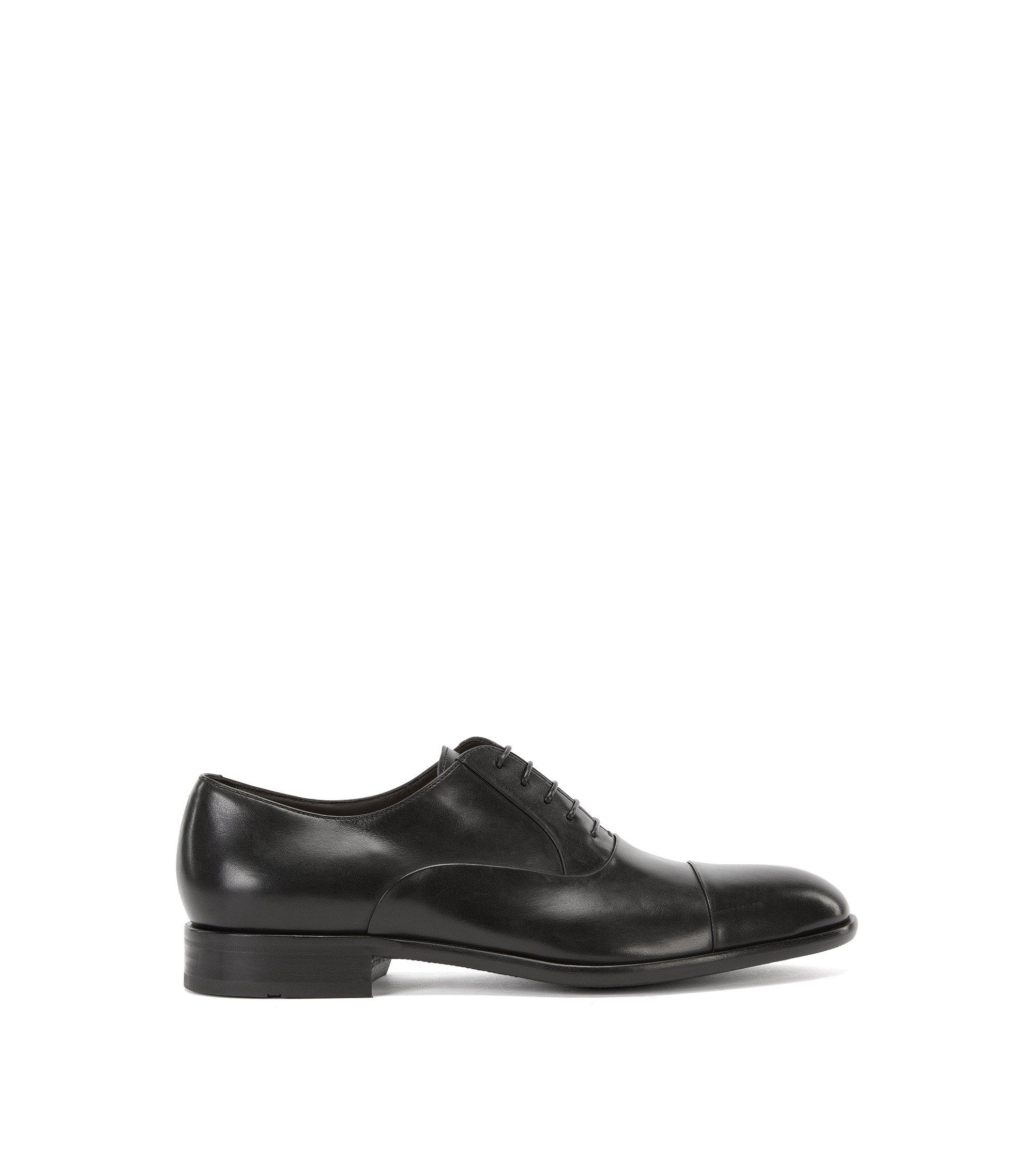 Oxford-Schuhe aus Glattleder, Schwarz