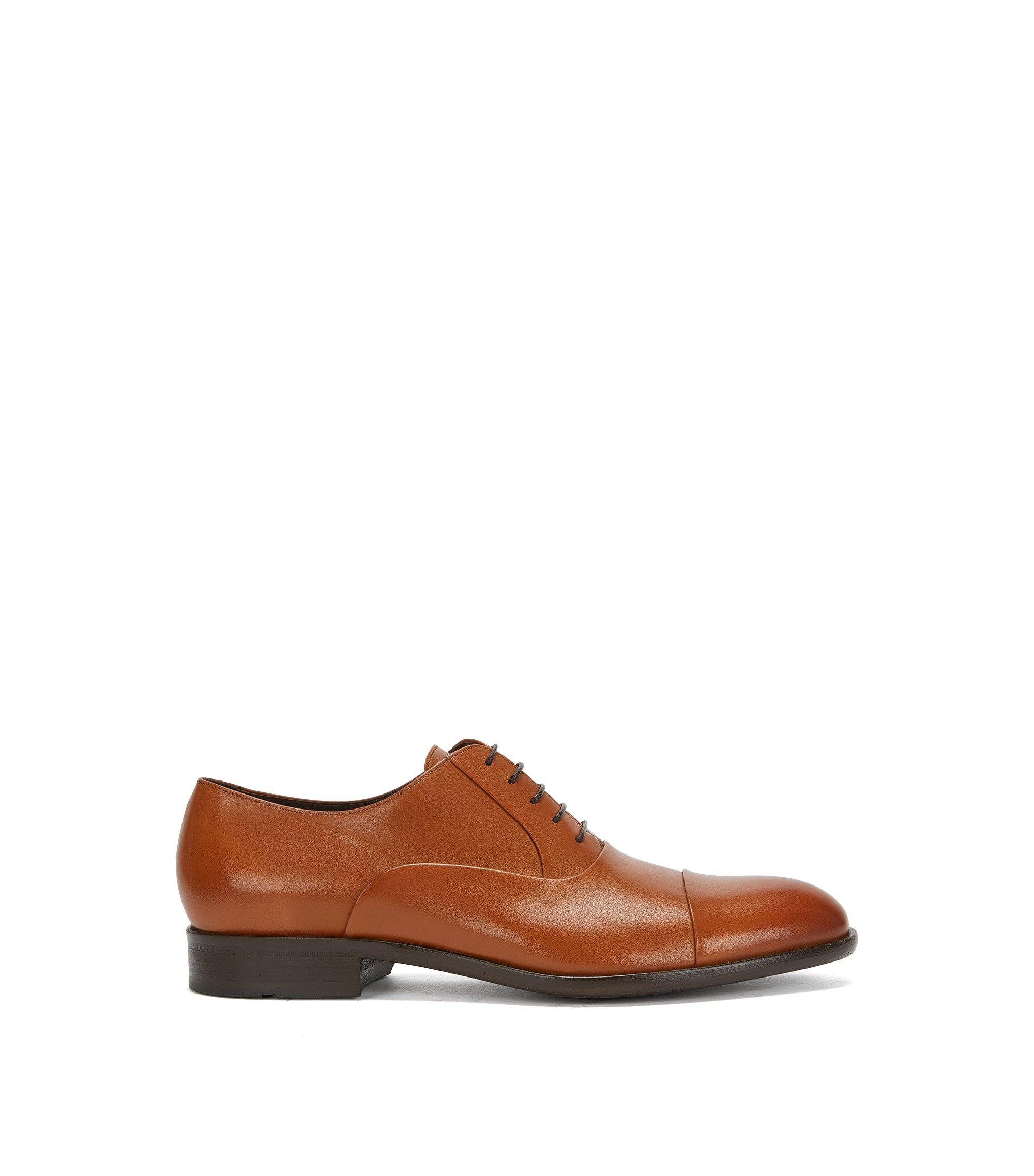Oxfordschoenen van glad leer, Bruin