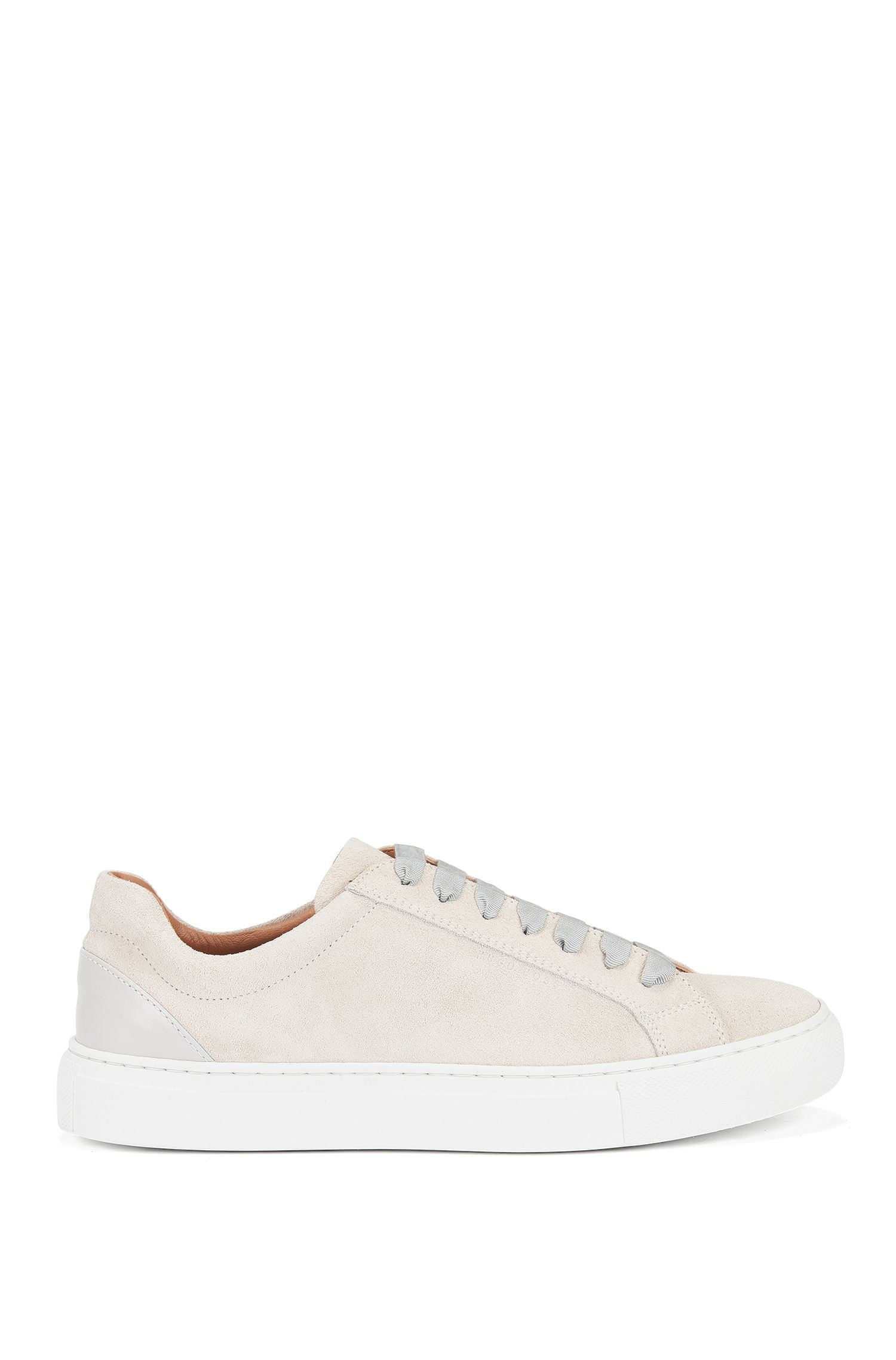 Sneakers stringate in pelle italiana