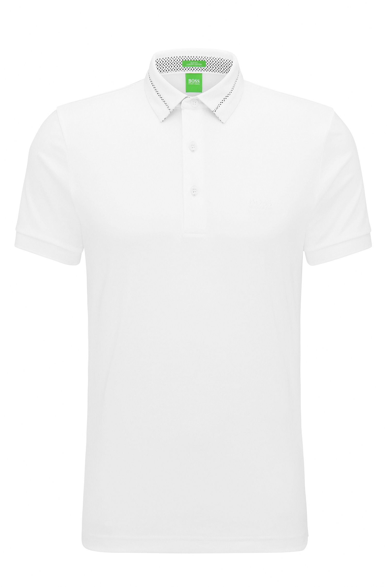 Slim-Fit Poloshirt aus Interlock-Piqué
