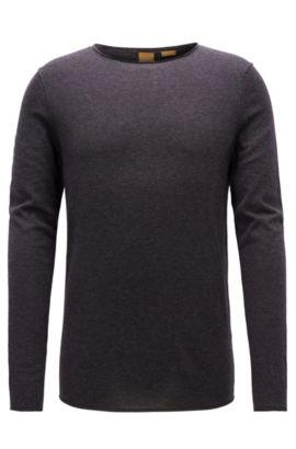 Jersey slim fit en algodón con efecto de cachemira, Gris oscuro
