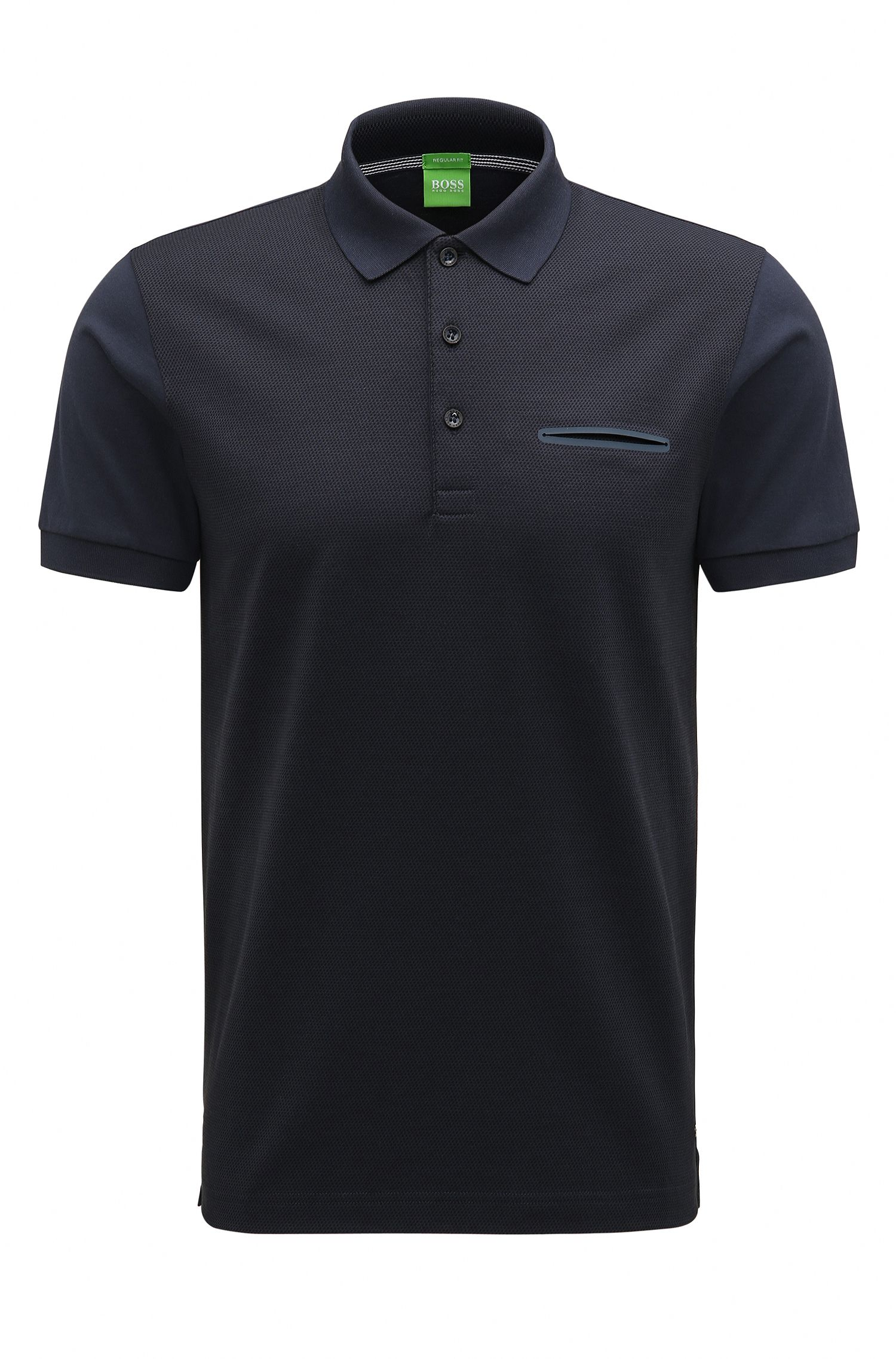 Regular-fit polo shirt with mercerised cotton
